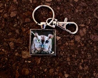 """Eastern Screech Owl """"Roscoe"""" Key Fob"""