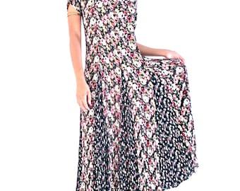 Vintage 90's Grunge Floral Maxi Dress