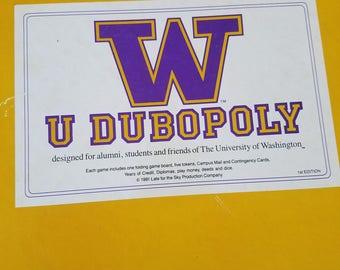 1st edition W U Dubopoly