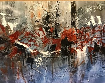 Acrylic abstract print of Texas Longhorns
