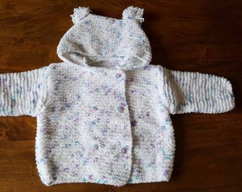 Speckled hooded jacket size 12 months to 18 months