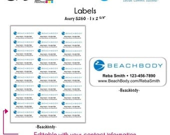 Beach Body Labels - Digital File