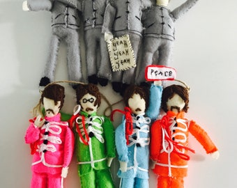 The Beatles Felt Doll ~ Grey 60's OR Sgt Pepper