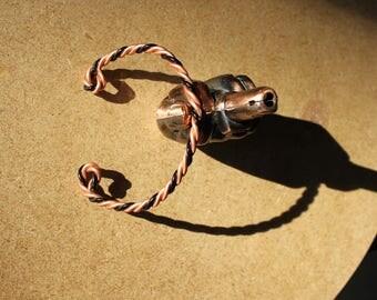 Two-tone twisted bracelet