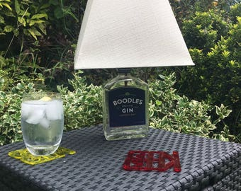 Boodles Gin Bottle Lamp