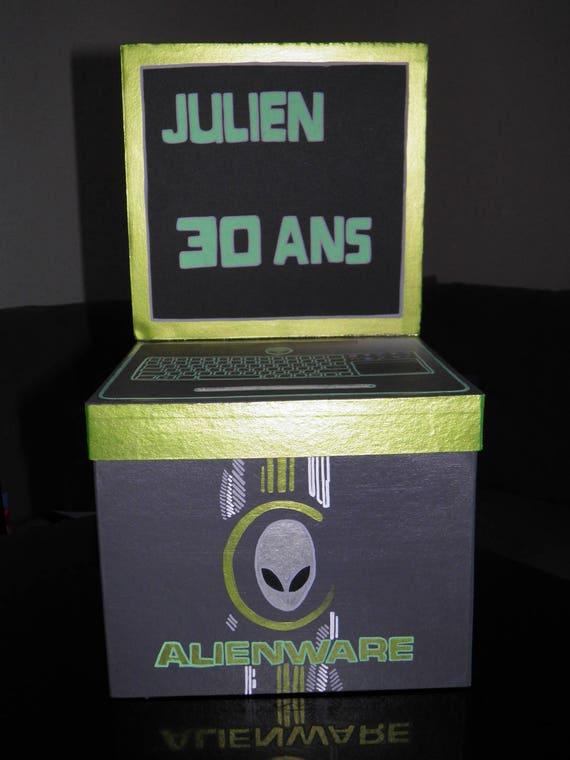 Fabuleux Urne anniversaire theme geek gamer ordinateur jeux video YE31
