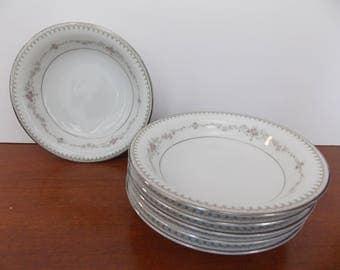 """Noritake """"Fairmont"""" berry/fruit bowls set of 6"""
