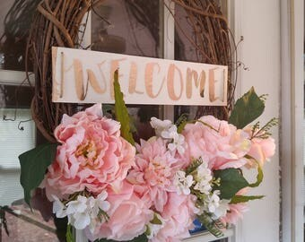 Chic Welcome Spring Wreath