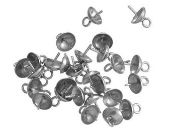 Bail set, Rod and loop fasteners for pendant