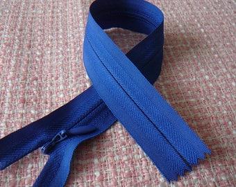 Zip up blue INVISIBLE zipper 25 cm