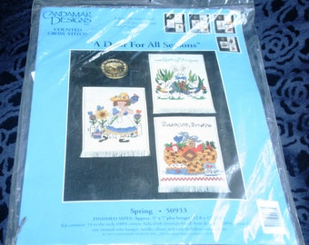 A Door For all Seasons Cross Stitch #50933 by Candamar Designs, Cross Stitch Kit (1997)