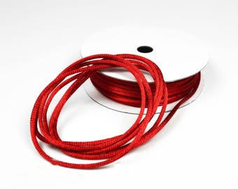 10 meters of rat tail red 2 mm leather cheap satin