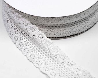 lace trim in white 100% cotton 55 mm multiple colors