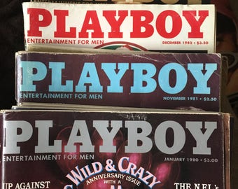 Playboy magazines 1980s
