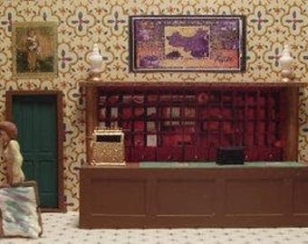 O scale hotel interior for train layout building Ameritowne