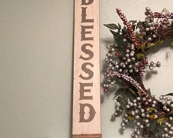 BLESSED wooden wall hanging