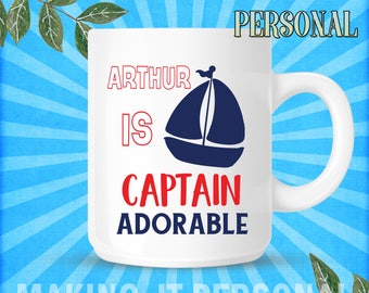 YOUR NAME Is Captin Adorable Personalised Mug Gift Idea