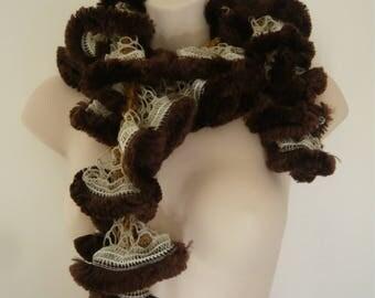 Frou-frou fur scarf