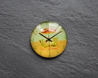 "Cabochon 25 mm glass (Beach) ""Clock"""
