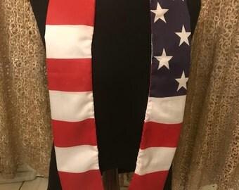USA flag print sash