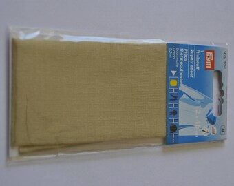 beige percale cotton fusible piece for repair prym 929404