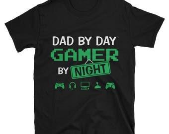 Dad Gamer Shirt - Daddy Gamer - Videogame Tshirt - Shirts For Geeks - Dad gamer shirt - Best Nerd Shirts