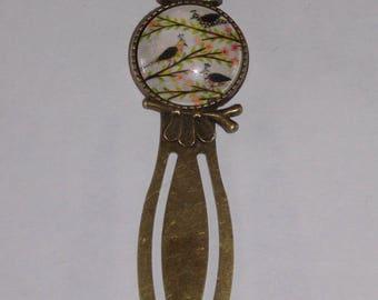 Bookmark paper clip glass cabochon