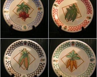 Garden Fresh plates (4) by Tabletops Unlimited