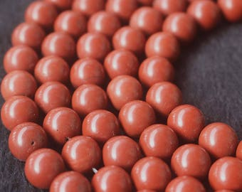 Full Strand Red Jasper  Smooth Round Beads,15'' per strand