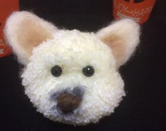 Dog face doll