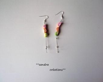 pair 3 dangling fruit Stud Earrings