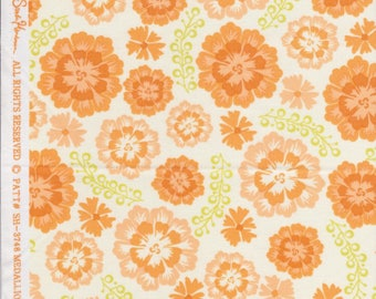 Sandi Henderson for Michael Miller Fabrics, Farmers Market, Medallion Bloom in peach. Sold by the FQ.