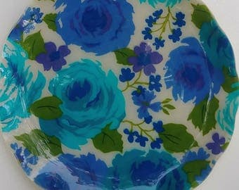 Blue Lavender Floral Tray