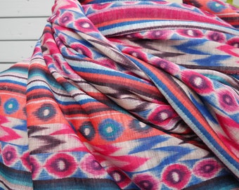 Jersey very ethnic patterns (Mexico) - dress, top, scarf, sarong...