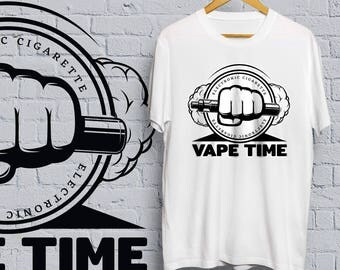 Vape Time T-shirt - vape, shirt, tee, vaping, cigarette, e cigarette, smoking, weed, cannabis, marijuana, skull, vaporize,