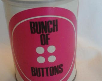 Vintage  bunch of buttons filled tin