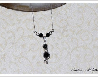 Necklace with natural stones: Black Onyx