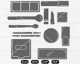 Makeup SVG, Cosmetics Clipart, cricut, silhouette cut files commercial use