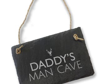 personalised engraved man cave natural slate garden shed sign plaque gift sl_sign5 - Garden Sheds Eureka Il