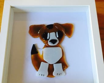 Fused Glass Beagle Dog