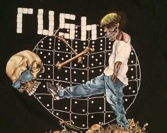 """1991 Rush """"Roll the Bones"""" tour tee"""
