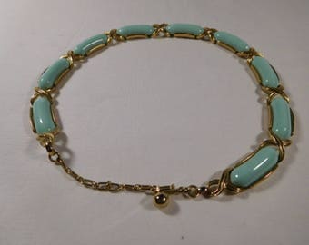 Vintage Necklace With Pale Blue Stones