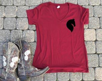 horse head shirt, Horse shirts for her, horse gifts for her, horse gift for girls, equestrian shirts, barn tshirts, horse jumping shirt