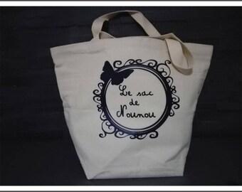 "personalized bag shaped basket ""nanny"""