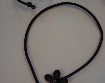 Adornment jewelry fantasies soft black flower