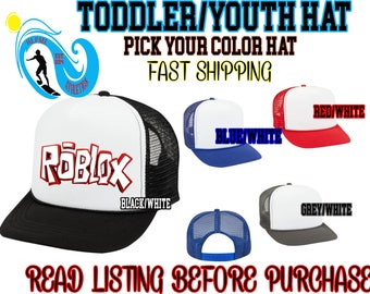 ROBLOX Birthday BOY/ Girl Hat Sublimation Mom Dad Brother Sister family theme One Size Fits Roblox's