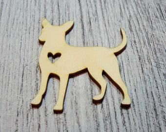 My dog 1064 a cut out of wood for your cards