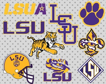 LSU  SVG, dxf, png, eps, LSU cricut and silhouette cameo, louisiana svg, louisiana cricut, louisiana state university svg