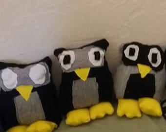 Stuffed Handmade Owls