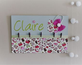 Collage photos for child's nursery, kids personalized name